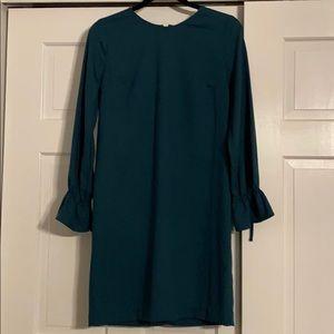 Banana Republic dark green, long sleeve dress